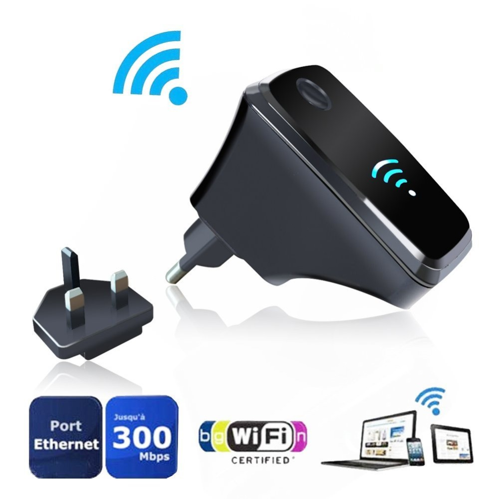 EU UK Plug Wifi Router Wireless repeater Extension of the transmission bandwidth Amplifier  2.4GHz Network Signal Gain Full