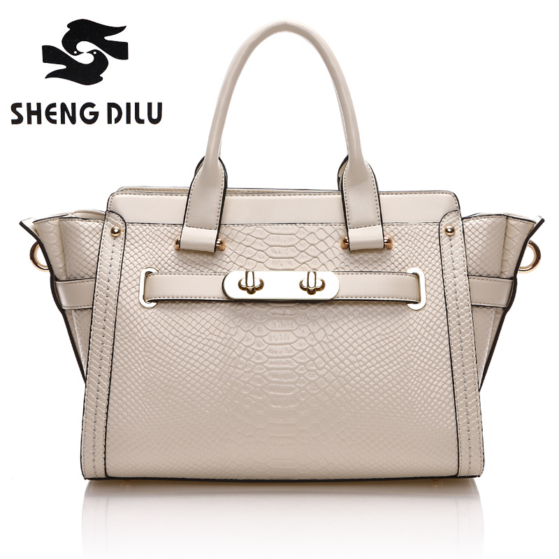 ShengDiLu Brand Women Genuine Leather Handbags Cow Genuine Leather Bags For Women's Shoulder CrossBody Bags Bolsa Femininas Bags chispaulo 2017 women genuine leather handbags cowhide women s messenger shoulder bags crossbody bolsa femininas tassel new c137
