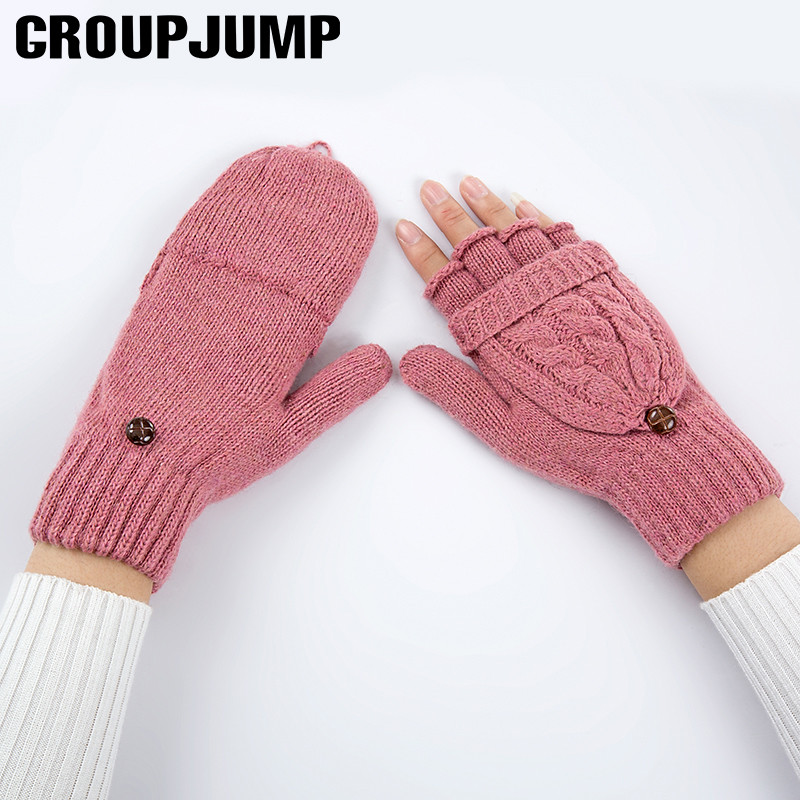 Fashion Gloves Women Mitten Warmer Women Winter Glove Knitted Fingerless Gloves Female -9570