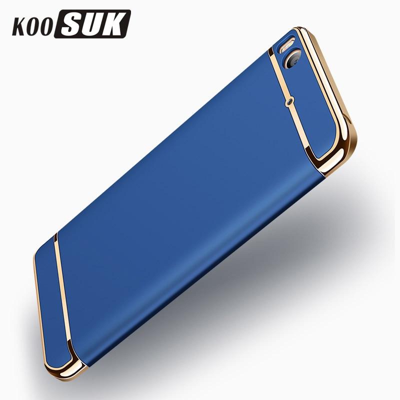 KOOSUK Back Case For Xiaomi 5s mi5s 5s Plus Cover 3 in 1 Plating Hard Plastic Phone Case For Xiaomi Mi 5s Full Protection Shell