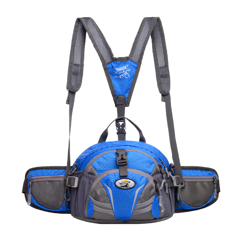 TANLUHU 337 Nylon Sports Bag Outdoor Climbing Hiking Backpack Unisex Waist Pack Kettle Bag Handbag Running Bag