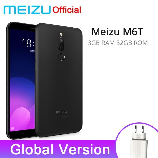"""הגלובלי גרסה Meizu M6T 3 GB 32 GB נייד טלפון MTK6750 אוקטה Core 5.7 """"18:9 מלא תצוגת 3300 mAh סוללה זיהוי טביעת אצבע"""