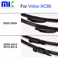 Mikkuppa Front And Rear Wiper Blades For Volvo XC90 2002 2014 High Quality Rubber Windscreen Windshield