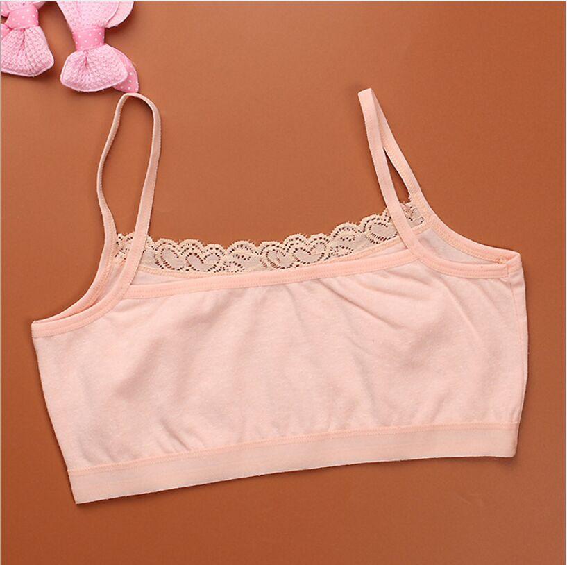 Young Girls Lace Bra Teenage Puberty Soft Cotton Underwear Training Bra Clothing