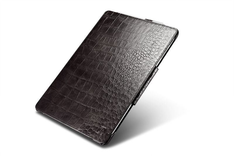 все цены на Crocodile Pattern Genuine Leather Case for Microsoft Surface Pro 4 Cover 12.3