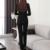 De dos Piezas de Damas Formal Traje Pantalón Diseños Oficina Uniformes Chaqueta De trabajo Desgaste Del Otoño de Las Mujeres Trajes de Negocios Negro