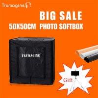 50 50 50CM LED Photo Studio Soft Box Light Tent Photography Softbox Lightbox Portable Bag AC