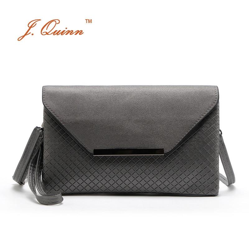 J.Quinn 브랜드 여자 메신저 가방 PU 가죽 여자 봉투 가방 작은 Crossbody 핸드백 여자의 어깨 가방 여자 파티