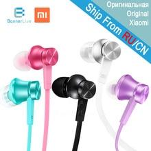 Original Xiaomi font b Earphone b font Piston Basic In Ear Stereo with Mic Earbud Mi