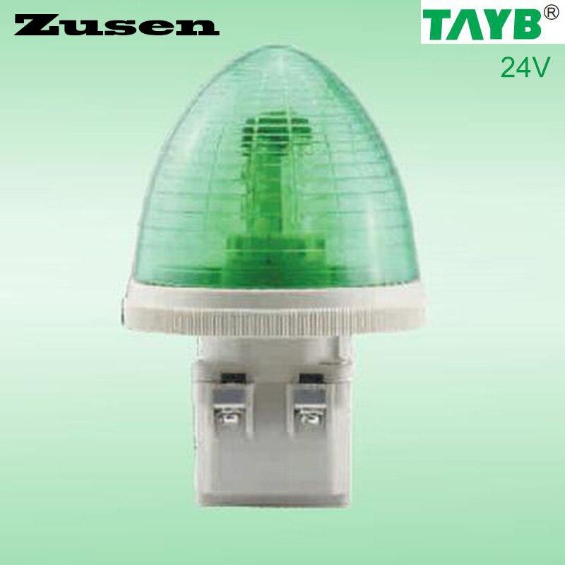 Zusen TB30-G-24V 24V Equipment Signal Light Green LED Lamp Small Light