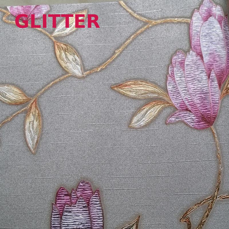 Modern Living Room 3d Flowers Wallpaper Italian Style Background Wallpaper Pink Flowers Embossed Wallpaper Roll Plant Wall Paper 2015 new brand 5m roll victorian country style for floral flowers background wallpaper