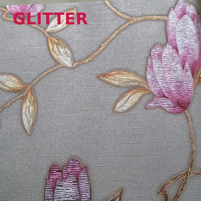 Moderne Wohnzimmer 3d Blumen Tapete Italienische Stil Hintergrundbild Rosa  Blumen Prägetapeten Rolle Pflanzen Wand Papier