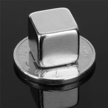 1PC Rare Earth Magnet Cube Block N50 Neodymium Super Strong Fridge 10 X 10 x 10mm