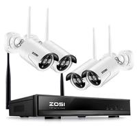 ZOSI Plug & Play Беспроводной 4CH CCTV Камера Системы P2P Беспроводной NVR и IP Камера 960 P открытый пуля Wi Fi наблюдения Системы