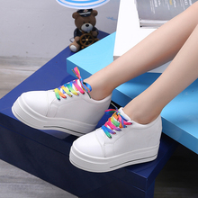 Color blanco cordones lona zapatos casuales de las mujeres del todo-fósforo  fresco(China 0080f03af4eb