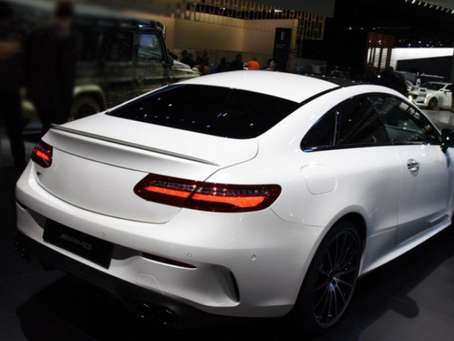 For <font><b>Benz</b></font> E class <font><b>c238</b></font> coupe 2door Spoiler E43 style ABS Material Car Wing spoiler Primer and paint 2015-2019 image