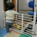 Cercas para Parque Infantil Bebé Niños de Seguridad del bebé Puerta de La Escalera Valla Retráctil Para Mascotas Puerta De Habitación de Aislamiento Bebé De Plástico Parque Infantil de Interior