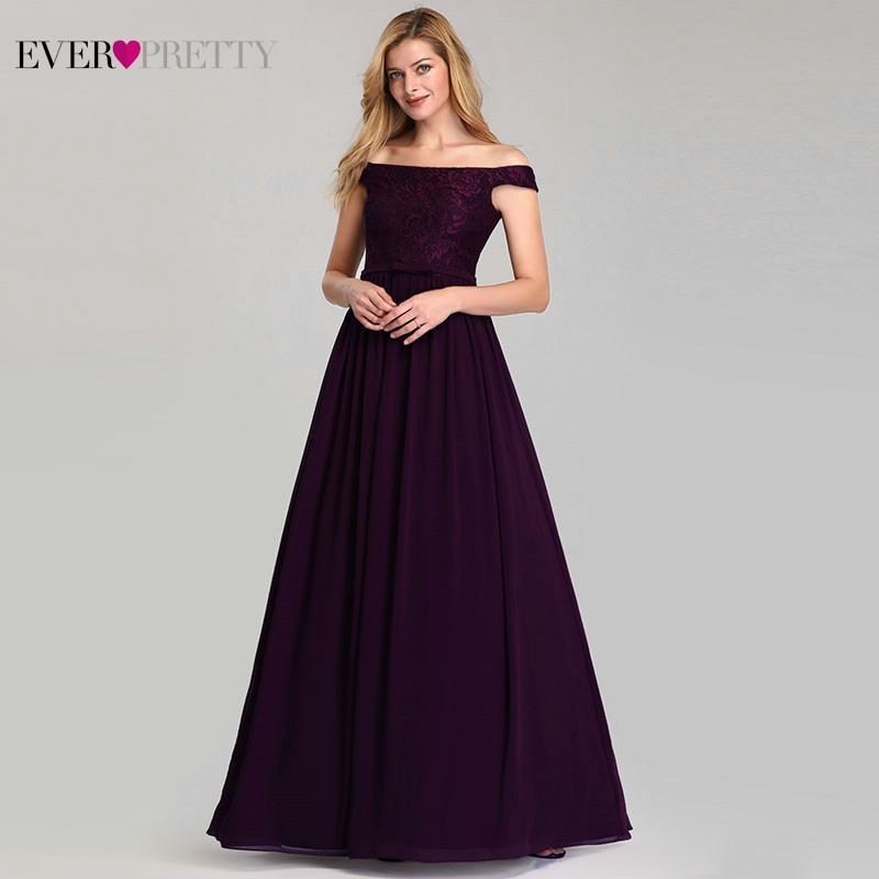 Elegant Embroidery   Prom     Dresses   Long Ever Pretty A-Line Off The Shoulder Sexy Lace Formal Party Gowns Vestidos De Gala 2019