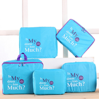 5 Pcs Set 4 Color Luggage Nylon Mesh Portable Travel Partition Pouch Storage Bags For Clothes