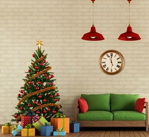 10X10ft thin vinyl photography Elk snow pine tree backgrounds christmas backdrop for Photo studio CM-6343