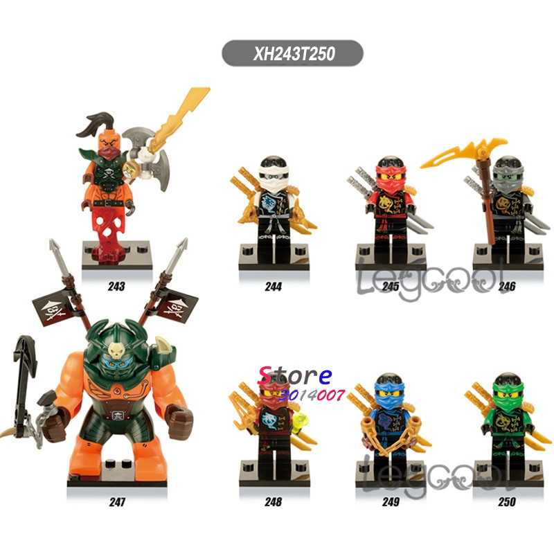 1 Uds de bloques de construcción de superhéroe Nadakhan ZAN KAI Cole, Jay Dogshank diy juguetes para niños de regalo
