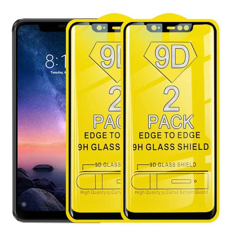 2 Pack 9D Full Cover Tempered Glass For Xiaomi Mi 9 8 SE A1 A2 5X 6X Lite Pocophone F1 Mix 2 Screen Protector Film