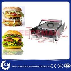 double deck plate baking machine chinese factory sell hamburger machine