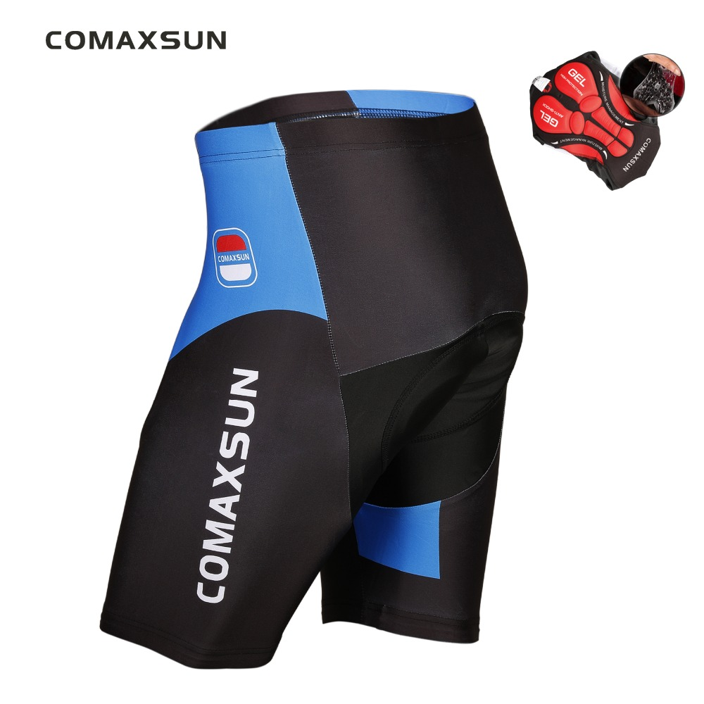 COMAXSUN Cycling Shorts 5D Gel Padded Shockproof MTB Bike Bicycle Road Ropa Ciclismo Tights