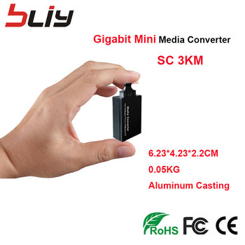 gigabit mini fiber switch FTTH fibra optica media converter SC fiber optic to RJ45 UTP switch fibra 3KM