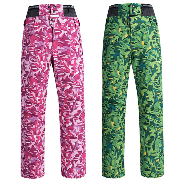 3f11cefe96d Colorful Shining Women s Snow Pant specially Snowboarding pants outdoor  sports wear Strap Ski Trouser 10K Waterproof