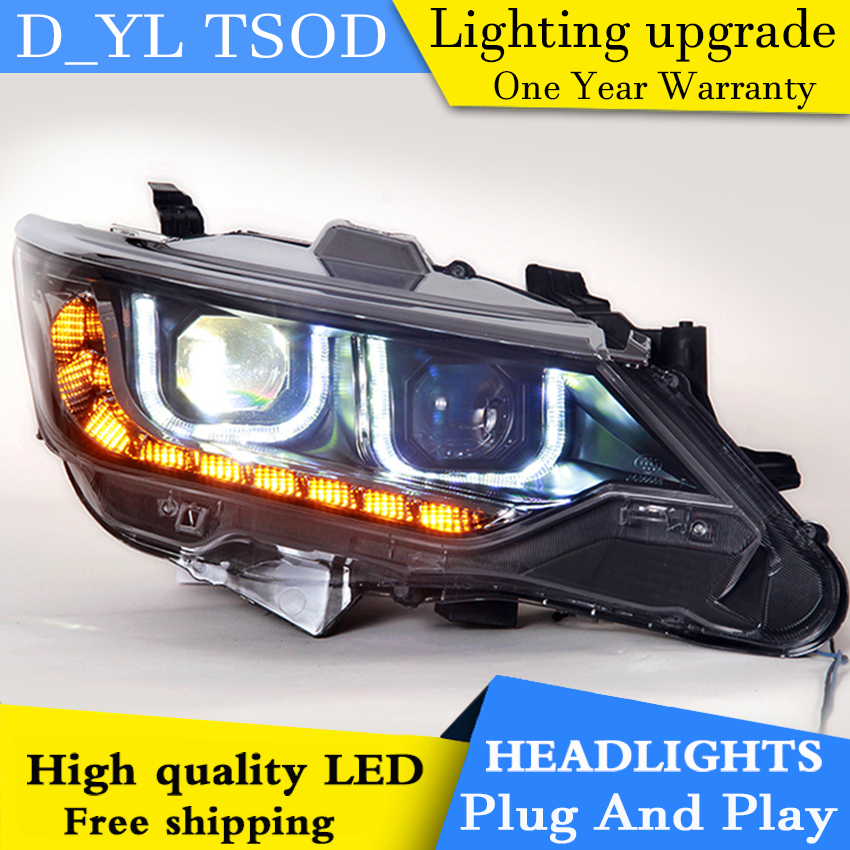 Car Styling For Toyota Camry headlights 2015 Camry led headlight GIT head lamp Angel eyes led