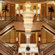 Modern ve basit kristal lamba altın çift merdiven ışıkları lüks kristal avize oturma odası farlar Avizeler Lmy 020