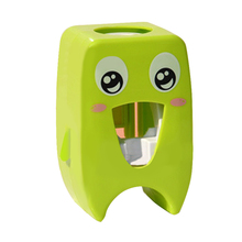 Cartoon automatic toothpaste dispenser bathroom household toothbrush holder strong suction cup wall-mounted toothpaste