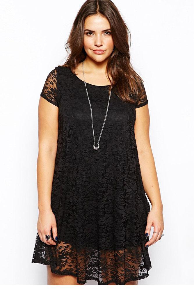 Black lace elegant dress