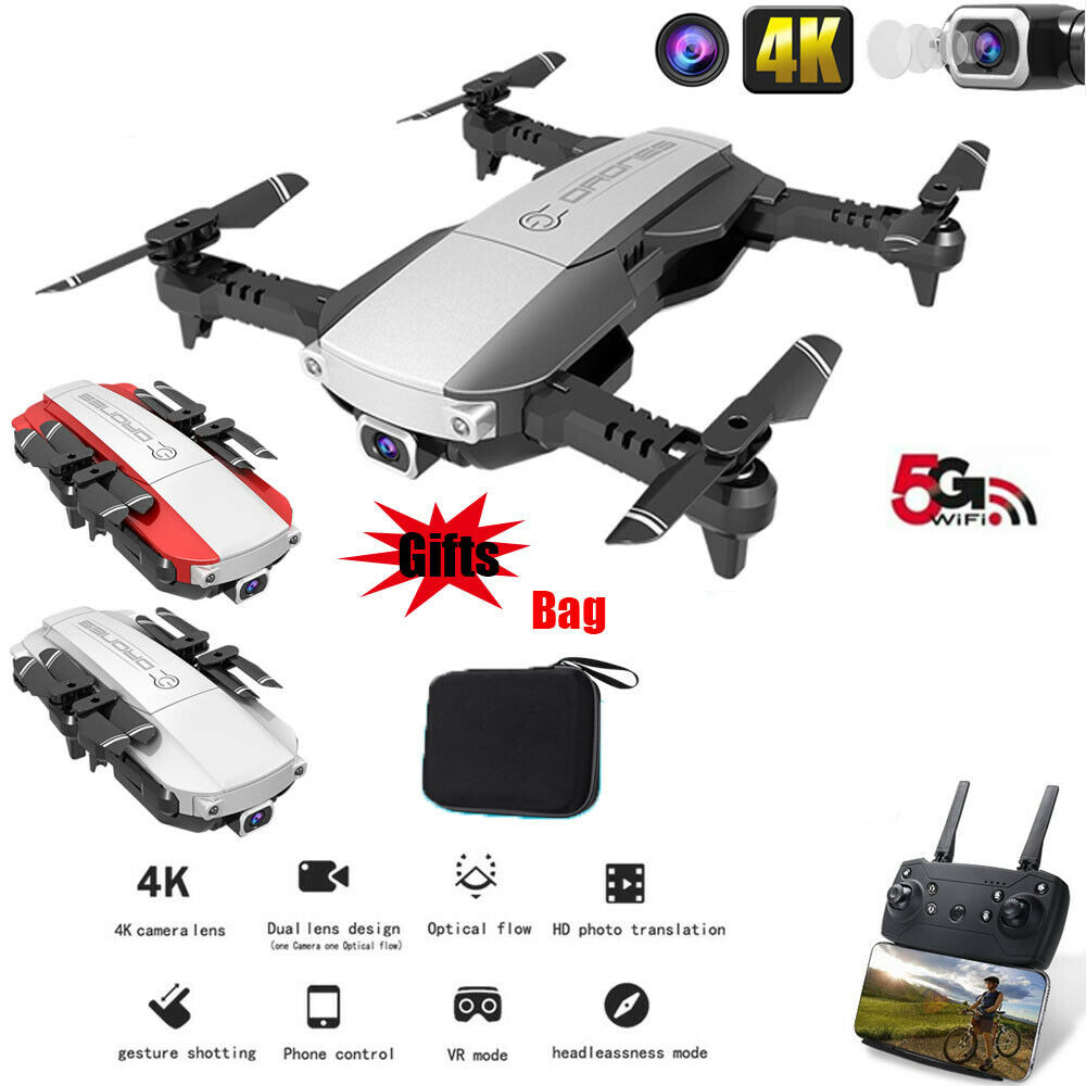 RCtown Drone x pro 5G Selfie WIFI FPV with 4K HD Dual Camera Foldable RC Quadcopter image