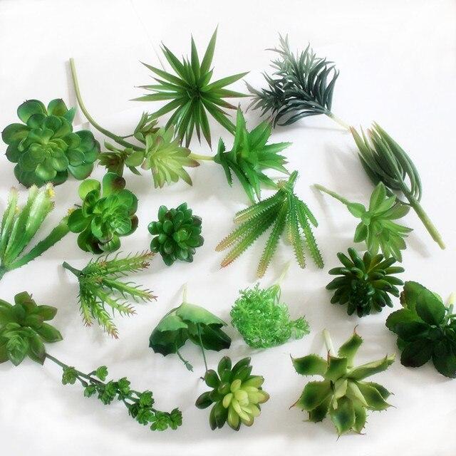 Средний Зеленый Серии Моделирования Суккуленты Искусственные Цветы DIY Украшения Искусственные Суккуленты Растения сад Home decor D5