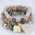 3 шт./компл. женский браслет с подвесками в виде слона в богемном стиле и искусственными элементами в стиле бохо, винтажные украшения для жен...