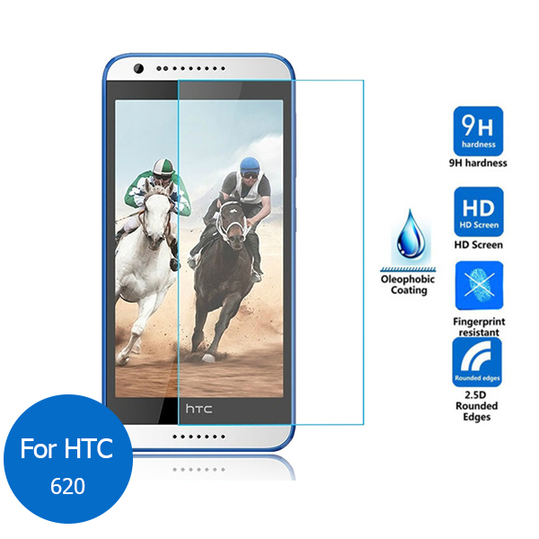 For HTC desire 620 Tempered Glass Screen Protector 2.5 9h Safety Protective Film on 620G D620H 820mini 820 mini 620 g Dual Sim
