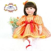 22 дюймов 55 см reborn силиконовые куклы, реалистичные куклы reborn прекрасный для маленьких мальчиков и девочек подарок к празднику