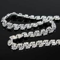 10Yards Rhinestone chain stone Cake Ribbon Trimming Wedding Decoration for sewing accessories