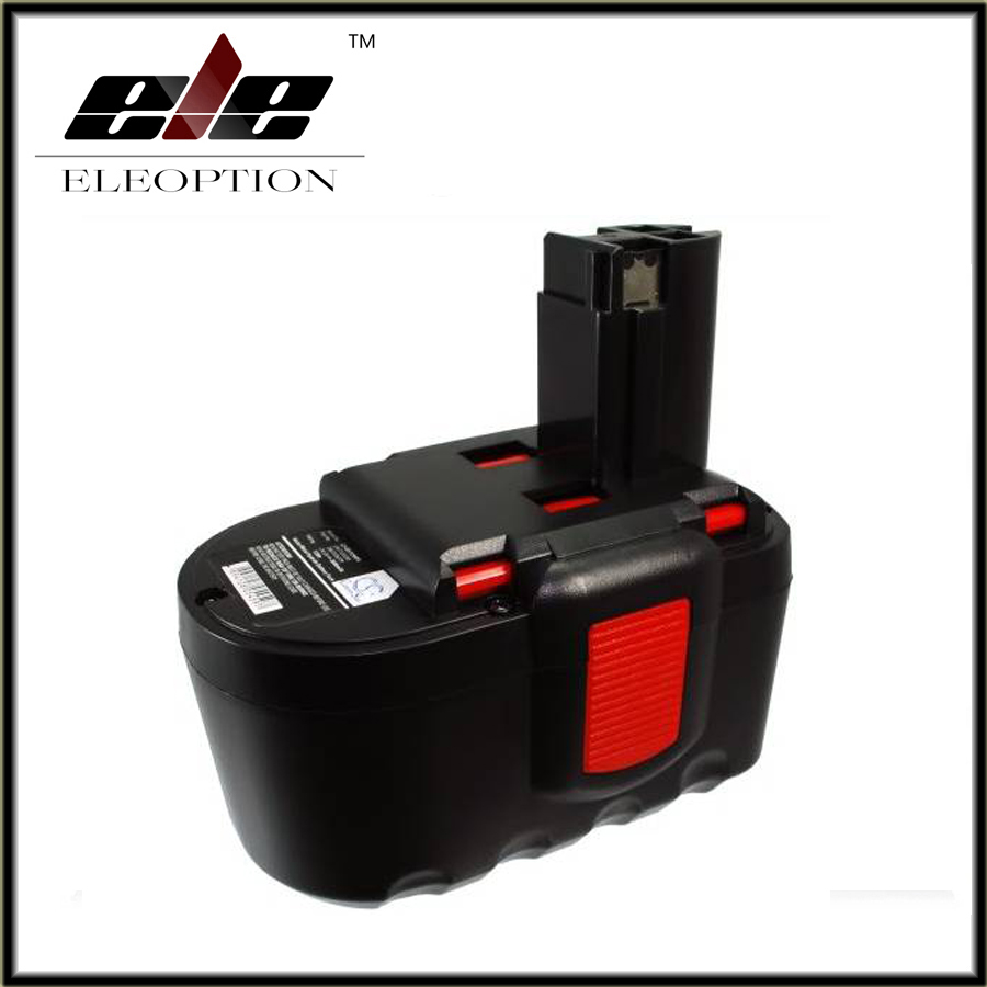 Eleoption power tool battery for Bosch 24VA 3000mAh,2607335268,2607335279,2607335280,BAT030,BAT031,BAT240,BAT299,BH-2424,BTP1005 new 24v ni mh 3 0ah replacement rechargeable power tool battery for bosch bat299 bat240 2 607 335 637 bat030 bat031 gkg24v