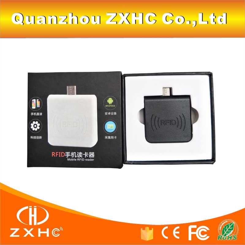 Portable 125Khz TK4100/EM4100/EM4200 RFID Reader Android Mirco USB For  Smart Phone Keypad Emulation