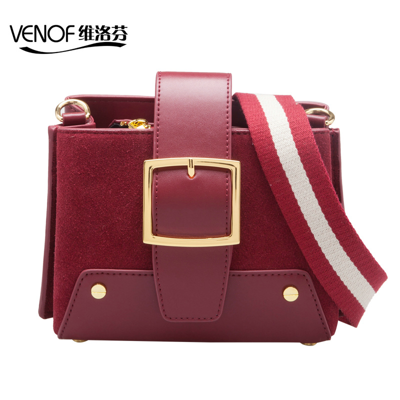 VENOF luxury retro split leather crossbody bags for women wide straps ladies shoulder bag women small bags 2018 fall and winter venof luxury handbags women bags designer retro contrast color flap bag split leather ladies small shoulder crossbody bags 2018