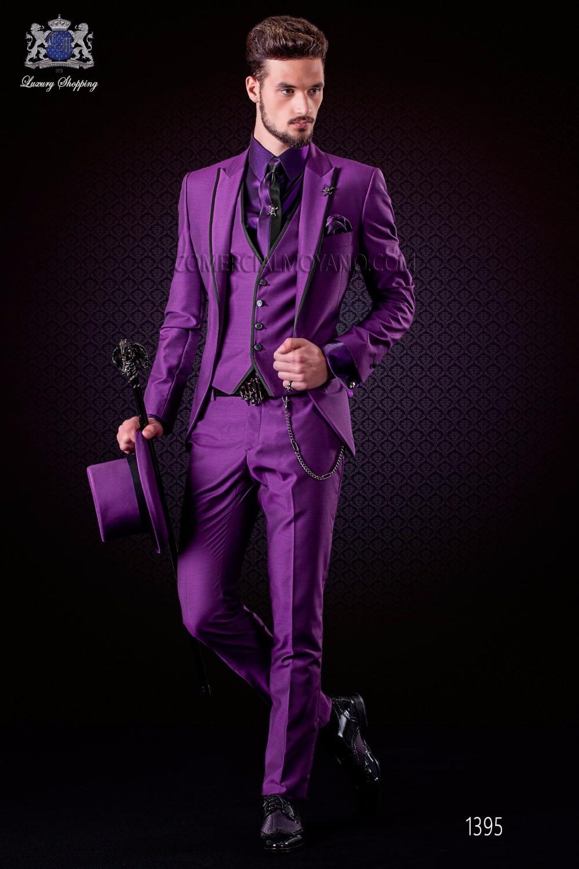 Latest Coat Pant Designs Italian Purple Tuxedo Jacket Slim ...