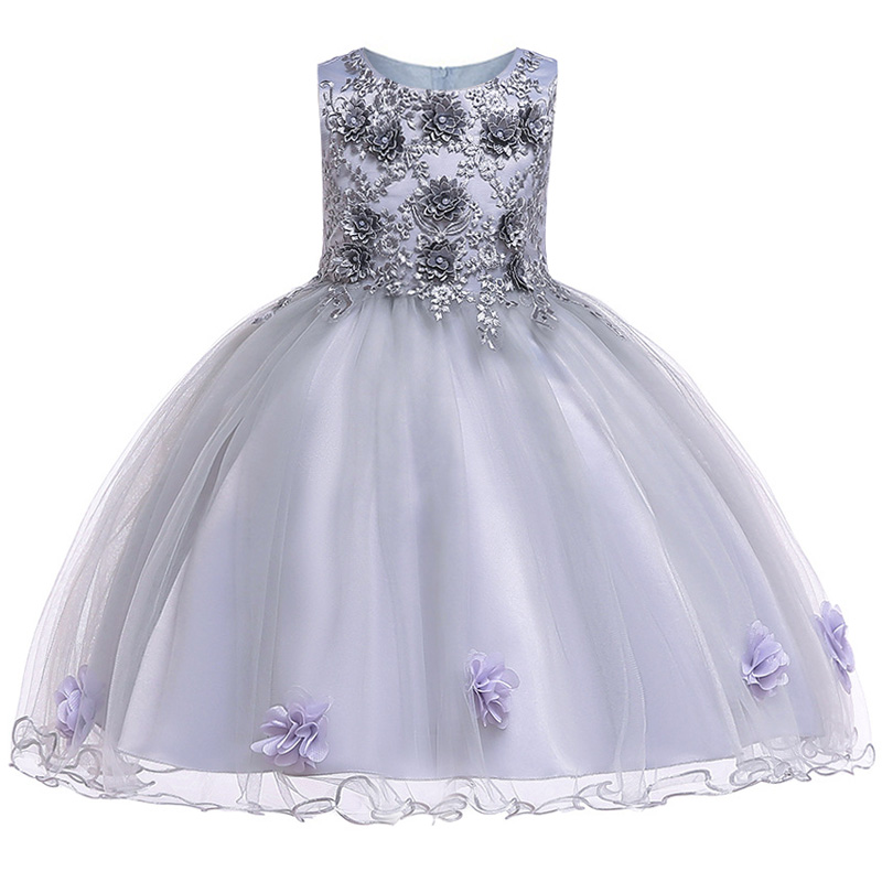 Summer Flower Girl Dresses For Little Girl School Wear Children Wedding Holiday Clothing Kids Party Dresses For Girl 8 10T 5