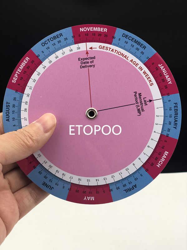 1pcs PVC Gestation Calculator wheel pregnancy goniometer expected date of birth calculator