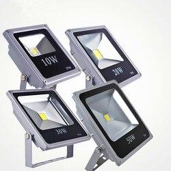 Ультра тонкий светодиодный светильник мощностью 10 Вт, 20 Вт, 30 Вт, 50 Вт IP65 напольный светильник лампа рефлектор 100w 220v Светодиодный точечный св...