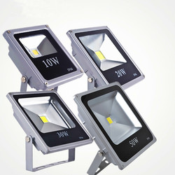 Ultra fino conduziu a luz de inundação 10w 20 30 50 ip65 ao ar livre projector lâmpada refletor 100w 220v conduziu a luz do jardim holofote exterior