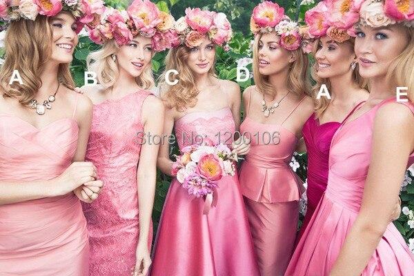 Querida bainha comprimento do joelho rosa Kelsey Rose estilo curto de dama de honra vestidos para casamento