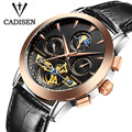 Luxury Brand CADISEN Mechanicl Watches Men Waterproof Skeleton 8 Stylish Fashion Automatic Self-Wind Watches Gold Clock Reloj